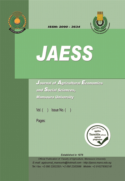 Journal of Agricultural Economics and Social Sciences